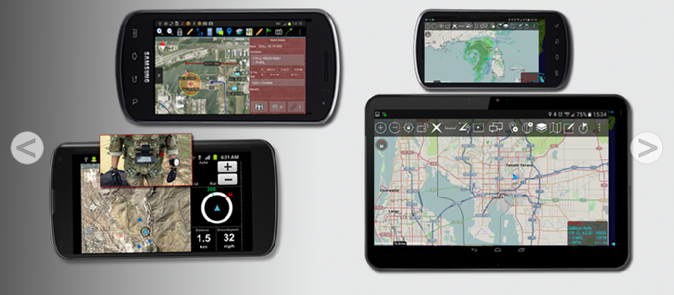 ATAK (Android Team Awareness Kit)/WinTAK Software) - Provides ground users and pilots a meaningful, geospatial site picture - Read More...